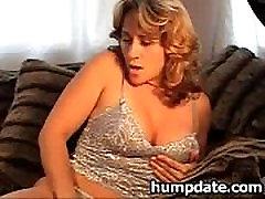 Sexy MILF with nice breasts masturbating