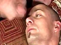 Gay bukkake group ass fuck and facial