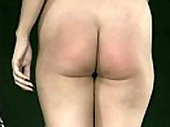Hot slave gets her pussy stroked with neetles and gets spanked on her well formed ass bdsm