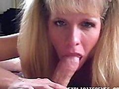 Naughty mature babe sucking on stranger&039s cock