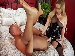 Crazy pornstars Aiden Starr and Amber Rayne in fabulous blonde, big tits sex scene