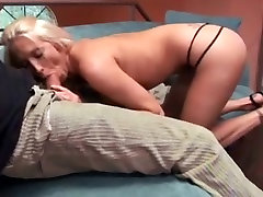 Cute golden-haired with worthy large boobs cant live without to ride a large hard jock after blow job