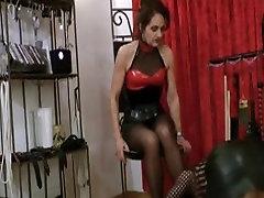 Mature femdom hot lady dominating sissy male