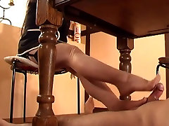 Sheer Stockings Footjob