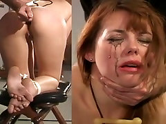 Anal torture fastened
