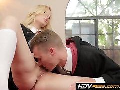 Natural blonde beauty Tara Lynn Fox Rides Cock Hard