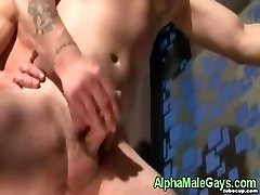 Gay anal sex close up with creamy climax