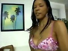 Young Sexy Ebony Slut Sucks