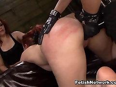 Isa Mendez & Kimber Woods Make Alessa Snow Cum with BDSM Fun