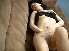 HOT mature masturbates in pantyhose lingerie
