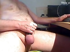wanking wearing 5 gates of hell with cum shot