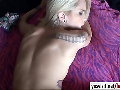 Slender blonde gf Halle Von tries out painful anal fucking