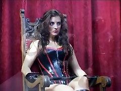 Wicked brunette fucks her thralls in latex