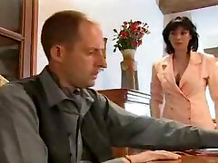 French porn video with a naughty cougar