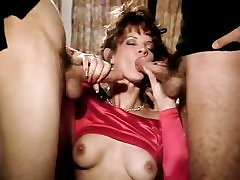 Aja, Damien Cashmere, Jon Dough in footage from one of the best classic porn movies
