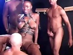 Sexy black slave cocksucking, fucking and bukkake!
