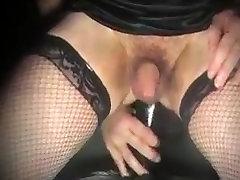 shemale Anal big dildo has bottom