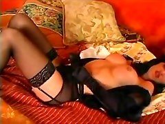 Classy lingeried tranny is burning with a sexual desire