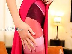 Pink nylon and pantyhose is my bang life