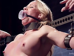 Milf gets tormented and machine fucked
