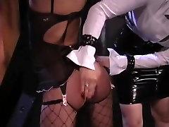 Lesbian bdsm spanking 1