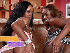 Nubile Ebony Lesbian Babe Has Her Pussy Licked For First Time
