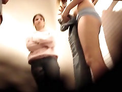 Slim bodied dressing room girls get intimacy voyeured