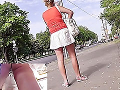 Mind Blowing string panty upskirt
