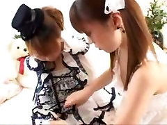 Kinky Japanese lesbians enjoying some hot sapphic fun