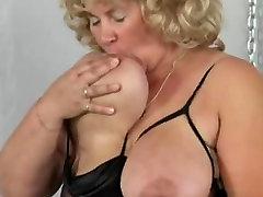 German Big Beautiful Woman granny masturbates herself loudly