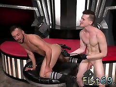 Fist fuck gay twink first time Aiden Woods is on his back an