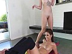 Yoga lesbian rimming babe