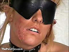 Slave Crystel Lei pussy punishment in gyno bdsm and bizarre needle pain of suffe