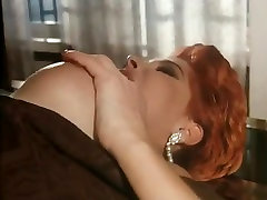 Classic porn scene with classy dressed lady