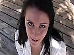 FTV Kate awesome brunette babe public flashing tits