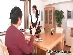 Naughty and sexy asian housewife sucks part1