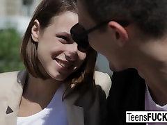 Sexy teen Dila receives an anal fucking