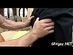 Explicit gay oral stimulation