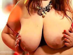 Katrin Porto - Busty Redhead Plays With Hairy Pussy