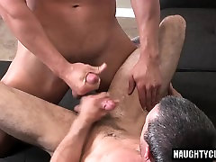 Hairy gay anal sex with creampie
