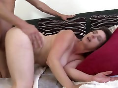 Taboo sex between hairy mom and son