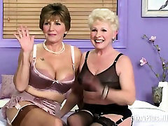 Mature Blonde And Brunette In Lingerie