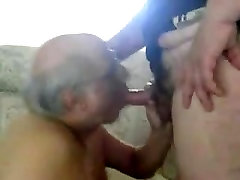 Old men sucking another old men&039;s cock