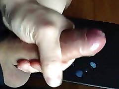 playing with my cock and cumming