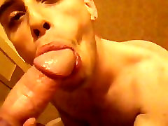 Sucking a daddy cock