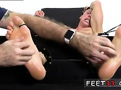 Free gay twink feet photo galleries Cristian Tickled In The
