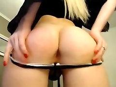 Super hot blond tranny TS small tits big cock