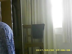 Busty wife hangs tits while drying, seen in white pants too