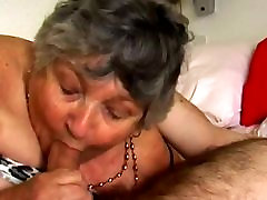 When pussy meet tongue granny,grandma