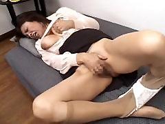 Japanese Masturbate MILF Big Busty Boobs